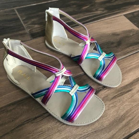 Children's Place Other - Children's Place girls rainbow gladiator sandals
